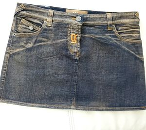 John Galliano gorgeous jeans mini-skirt